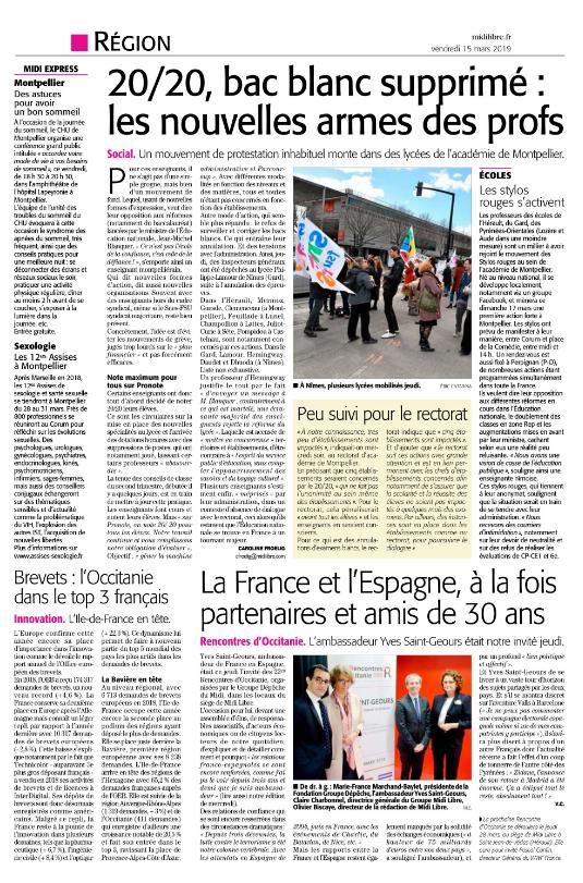 Midi Libre LRO 15 mars 2019