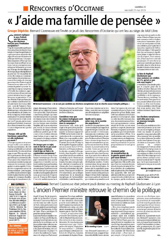 ML22mai2019 Interview LRO Bernard CAZENEUVE